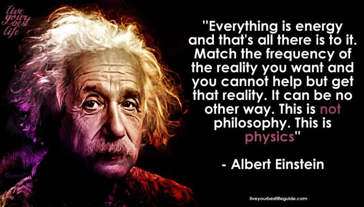 everything is energy-einstein